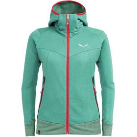 SALEWA Pure Mountain Dry Bluza z zamkiem błyskawicznym Kobiety, zielony